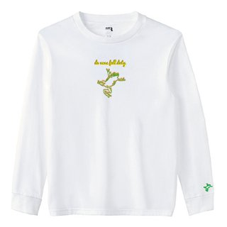 Frog Logo 'do ones full duty' Long T Shirts / White<img class='new_mark_img2' src='https://img.shop-pro.jp/img/new/icons15.gif' style='border:none;display:inline;margin:0px;padding:0px;width:auto;' />