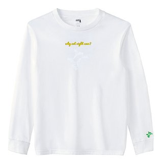 Frog Logo White 'why not right now?' Long  T Shirts / White<img class='new_mark_img2' src='https://img.shop-pro.jp/img/new/icons15.gif' style='border:none;display:inline;margin:0px;padding:0px;width:auto;' />