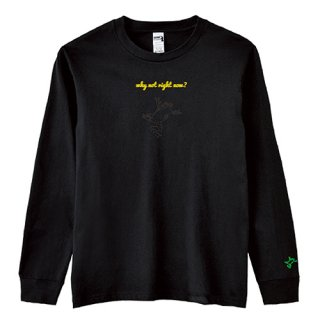 Frog Logo Black 'why not right now?' Long  T Shirts / Black<img class='new_mark_img2' src='https://img.shop-pro.jp/img/new/icons15.gif' style='border:none;display:inline;margin:0px;padding:0px;width:auto;' />