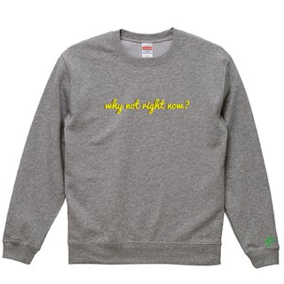 'why not right now?' Sweat / Graphite Heather<img class='new_mark_img2' src='https://img.shop-pro.jp/img/new/icons15.gif' style='border:none;display:inline;margin:0px;padding:0px;width:auto;' />
