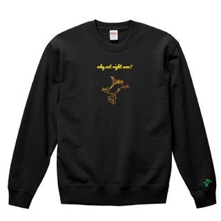 Frog Logo 'why not right now?' Sweat / Black<img class='new_mark_img2' src='https://img.shop-pro.jp/img/new/icons15.gif' style='border:none;display:inline;margin:0px;padding:0px;width:auto;' />