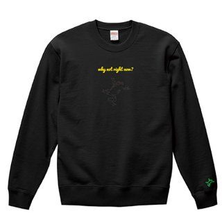 Frog Logo Black 'why not right now?' Sweat / Black<img class='new_mark_img2' src='https://img.shop-pro.jp/img/new/icons15.gif' style='border:none;display:inline;margin:0px;padding:0px;width:auto;' />