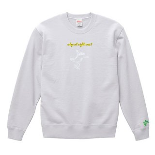 Frog Logo White 'why not right now?' Sweat / White<img class='new_mark_img2' src='https://img.shop-pro.jp/img/new/icons15.gif' style='border:none;display:inline;margin:0px;padding:0px;width:auto;' />