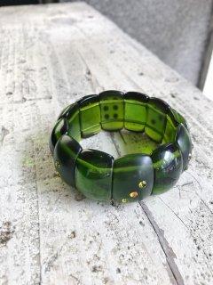Vintage Elasticated Green Bracelet