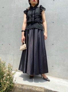 Lady's Black Satin Skirt