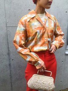 70s Orange Color Shirts
