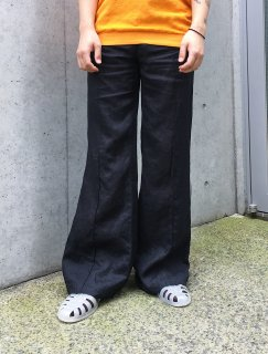 <img class='new_mark_img1' src='https://img.shop-pro.jp/img/new/icons14.gif' style='border:none;display:inline;margin:0px;padding:0px;width:auto;' />Linen Flare Design Pants