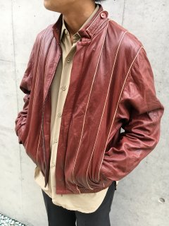 Leather Design Blouson