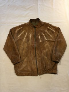 70s Carnit Nubuck Leather Design Blouson