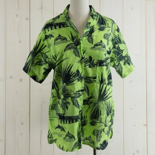<img class='new_mark_img1' src='https://img.shop-pro.jp/img/new/icons14.gif' style='border:none;display:inline;margin:0px;padding:0px;width:auto;' />VALISERE Hawaiian shirt グリーン Made in France