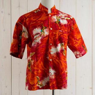 <img class='new_mark_img1' src='https://img.shop-pro.jp/img/new/icons14.gif' style='border:none;display:inline;margin:0px;padding:0px;width:auto;' />70's Surfline HAWAII Hawaiian shirt レッド/オレンジ
