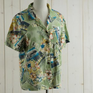 <img class='new_mark_img1' src='https://img.shop-pro.jp/img/new/icons14.gif' style='border:none;display:inline;margin:0px;padding:0px;width:auto;' />CARIBBEAN JOE Hawaiian shirt グリーン