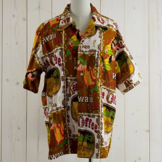 <img class='new_mark_img1' src='https://img.shop-pro.jp/img/new/icons14.gif' style='border:none;display:inline;margin:0px;padding:0px;width:auto;' />70's Made in Hawaii  Hawaiian shirt ブラウン/ホワイト