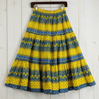 <img class='new_mark_img1' src='https://img.shop-pro.jp/img/new/icons14.gif' style='border:none;display:inline;margin:0px;padding:0px;width:auto;' />Made in France Provence Skirt プロバンススカート イエロー