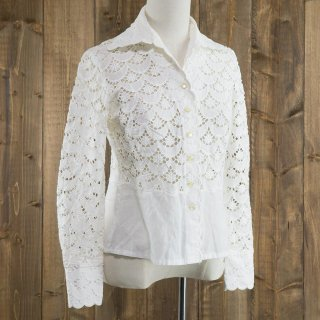 <img class='new_mark_img1' src='https://img.shop-pro.jp/img/new/icons14.gif' style='border:none;display:inline;margin:0px;padding:0px;width:auto;' />Lace Shirt シースルー ホワイト