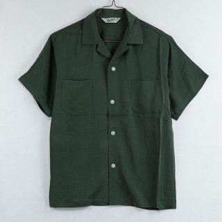 古着 Backers Short Sleeve Open Collar Shirt 半袖オープンカラーシャツ グリーン 古着のネット通販 古着屋グレープフルーツムーン