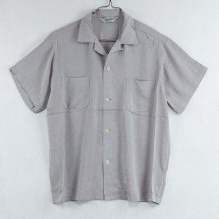 古着 Backers Short Sleeve Open Collar Shirt 半袖オープンカラーシャツ グレー 古着のネット通販 古着屋グレープフルーツムーン