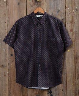 古着 Backers Short Sleeve Shirt Small Mark pattern  小紋柄・総柄半袖シャツ 2色 古着のネット通販 古着屋グレープフルーツムーン