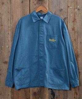 古着German cotton twill work jacket | ドイツ製コットンツイルユーロワークジャケット 古着のネット通販 古着屋グレープフルーツムーン