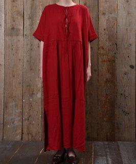 古着 drew strings short sleeve dress|胸元コード付きワンピース 古着のネット通販 古着屋グレープフルーツムーン
