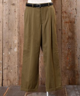 古着Made in USA straight Slacks |アメリカ製ストレートスラックス カーキ系 古着のネット通販 古着屋グレープフルーツムーン