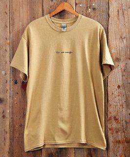 """古着 """"you are enought"""" T Shirt   「enought」メッセージTシャツ ベージュ/ホワイト 古着のネット通販 古着屋グレープフルーツムーン"""