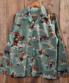 古着Long Sleeve Cowboy Pajama Shirt|カウボーイパジャマシャツ 古着のネット通販 古着屋グレープフルーツムーン