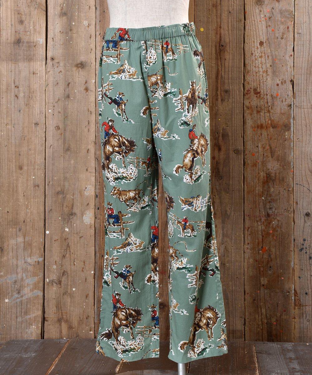 古着 Cowboy pajamas Pants カウボーイ総柄パジャマパンツ 古着 ネット 通販 古着屋グレープフルーツムーン