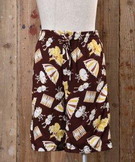 古着 Umbrella Pattern Short Pants|アンブレラ柄 ショートパンツ ブラウン系 古着のネット通販 古着屋グレープフルーツムーン