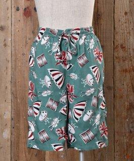 古着 Umbrella Pattern Short Pants|アンブレラ柄 ショートパンツ グリーン系 古着のネット通販 古着屋グレープフルーツムーン