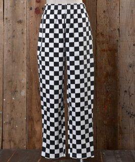 古着 Checker Flag pattern Easy Pants|チェッカーフラッグ柄イージーパンツ 古着のネット通販 古着屋グレープフルーツムーン