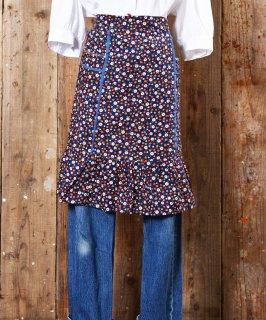 古着 70's little Flower pattern Apron|70年代 小紋花柄エプロン 古着のネット通販 古着屋グレープフルーツムーン