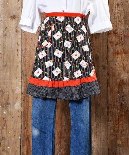 古着 Heart & Letter Print Apron|ハート&お手紙柄エプロン 古着のネット通販 古着屋グレープフルーツムーン