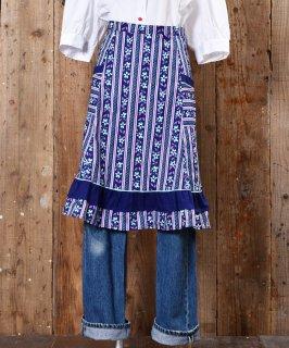 古着 European Flower pattern Apron|ヨーロッパ花柄エプロン 古着のネット通販 古着屋グレープフルーツムーン