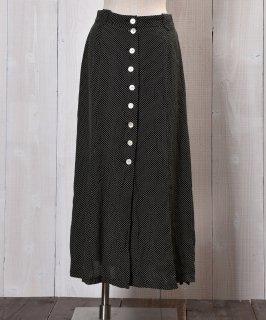 古着 dot multi pattern long Skirt|ドット柄ロングスカート ブラック系 古着のネット通販 古着屋グレープフルーツムーン