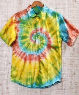 古着 Tie Dye Short Sleeve Shirt|タイダイ半袖シャツ ビタミンカラー 古着のネット通販 古着屋グレープフルーツムーン