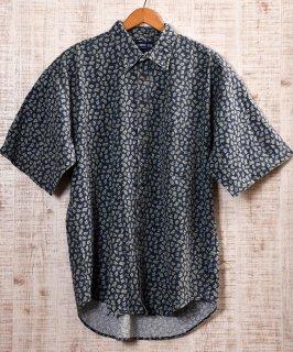 古着 Made in USA Paisley Pattern Short Sleeve Shirt|アメリカ製ペイズリー総柄 半袖シャツ 古着のネット通販 古着屋グレープフルーツムーン