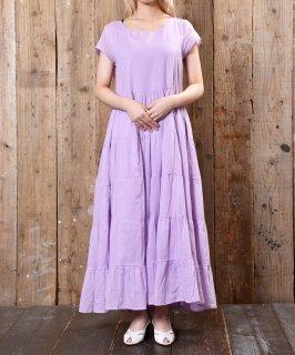 古着 Short Sleeve Dress Teared Solid|ショートスリーブドレスワンピース 古着のネット通販 古着屋グレープフルーツムーン