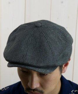 古着 Twist Yarn Stripe Cascket|キャスケット チャコールグレー系 古着のネット通販 古着屋グレープフルーツムーン