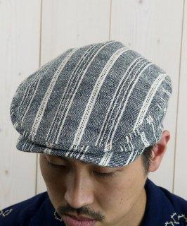 古着Light Fabric Hunting Cap|ライトファブリック ハンティングキャップ グレーストライプ 古着のネット通販 古着屋グレープフルーツムーン