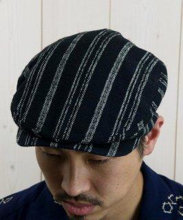 古着Light Fabric Hunting Cap|ライトファブリック ハンティングキャップ ネイビートライプ 古着のネット通販 古着屋グレープフルーツムーン