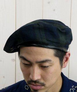 古着 Beret Assort Piping|リネン生地 パイピングベレー ブラックウォッチ 古着のネット通販 古着屋グレープフルーツムーン