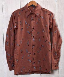 古着 Screw pattern long sleeve Shirt|ネジ総柄デザイン長袖シャツB 古着のネット通販 古着屋グレープフルーツムーン