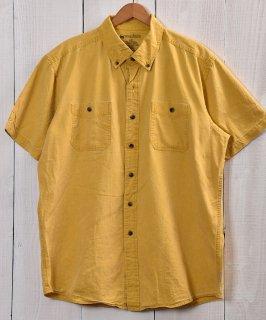 古着 Yellow button down Short Sleeve Shirts|イエローボタンダウンシャツ 古着のネット通販 古着屋グレープフルーツムーン