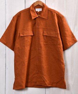 古着 Good Fabric Linen Short Sleeve Shirts|リネン半袖シャツ ブラウン系 古着のネット通販 古着屋グレープフルーツムーン