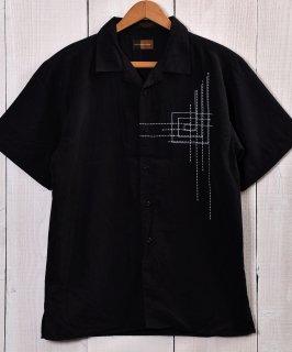 古着 Peach skin Short Sleeve Shirts|ピーチスキン半袖シャツ ブラック 古着のネット通販 古着屋グレープフルーツムーン
