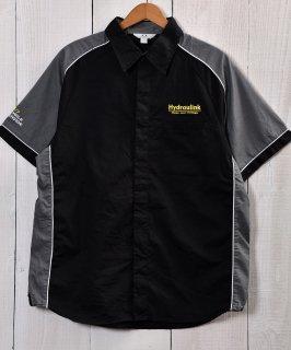 古着 Short Sleeve Work Shirts|半袖ワークシャツ 企業ロゴ ブラック 古着のネット通販 古着屋グレープフルーツムーン