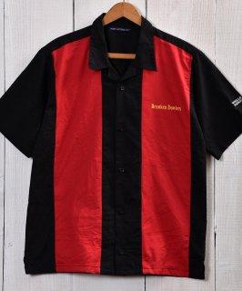 古着 Good design Short Sleeve Work Shirts|半袖ワークシャツ 企業ロゴ ブラック・レッド 古着のネット通販 古着屋グレープフルーツムーン