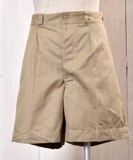 古着 60's M52 French Army Chino Shorts 60年代フランス軍 ミリタリーチノショーツ M52 サイズ5 古着のネット通販 古着屋グレープフルーツムーン