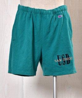 """古着 Made in USA """"Champion"""" Sweat Short Pants アメリカ製「チャンピオン」スウェットショートパンツ グリーン系 古着のネット通販 古着屋グレープフルーツムーン"""